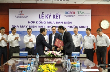 Signing of the Power purchase contract (PPA) for the Sun Power Project Adani Phuoc Minh 1